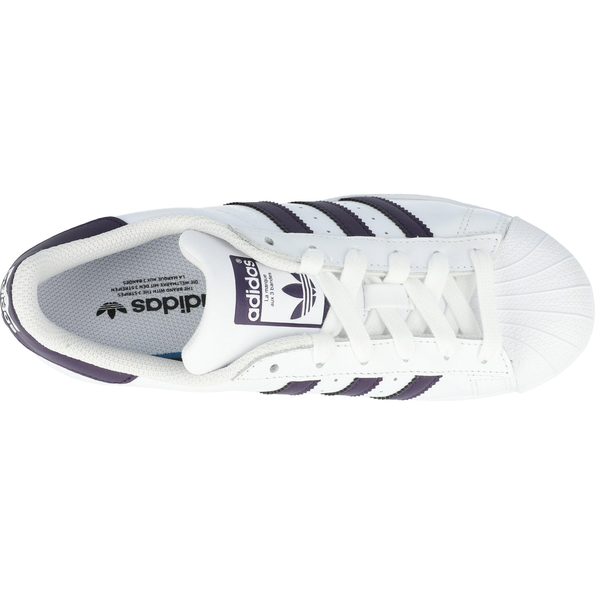 adidas Originals Superstar W White/Legend Purple Leather