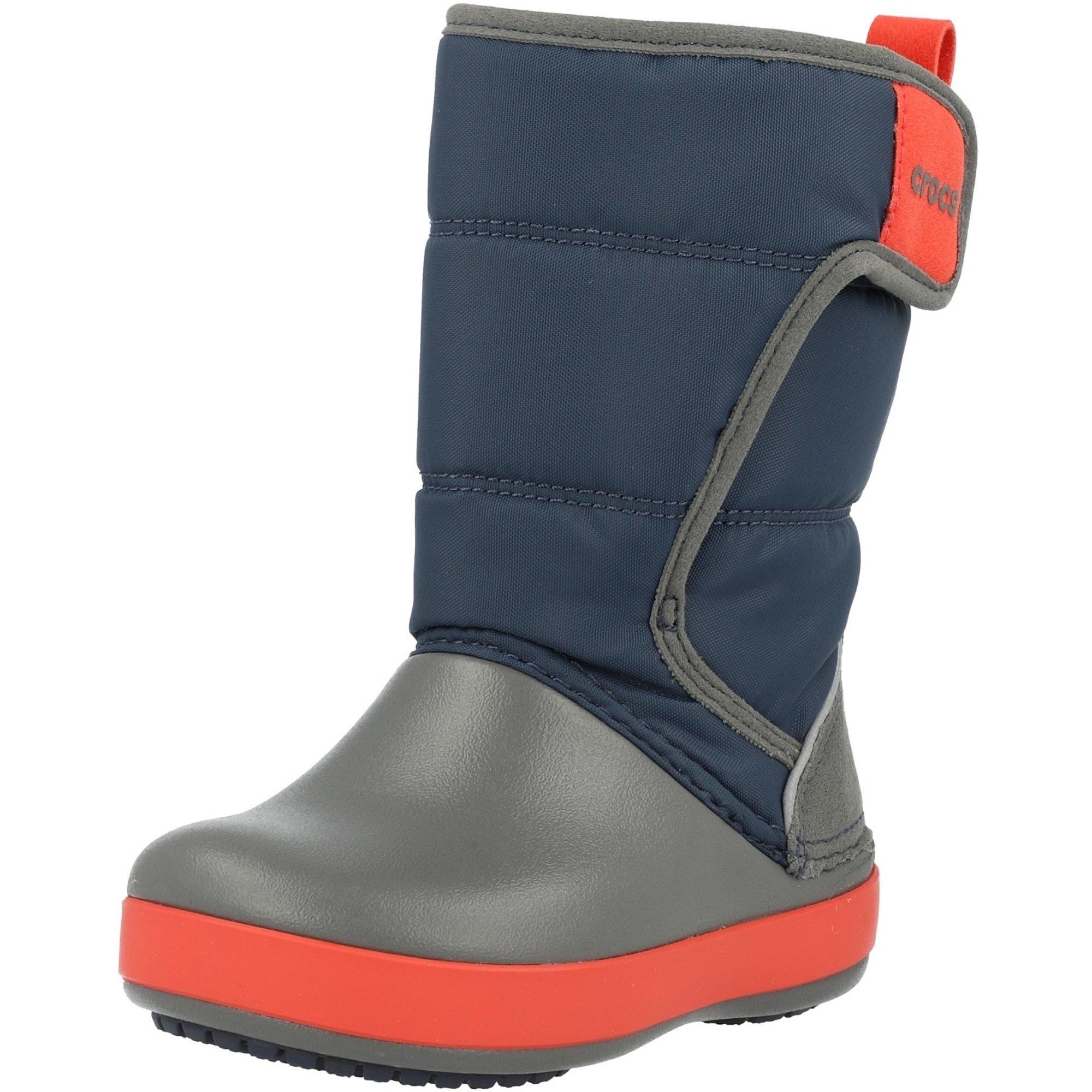 Crocs Kids LodgePoint Snow Boot Navy/Slate Grey Croslite