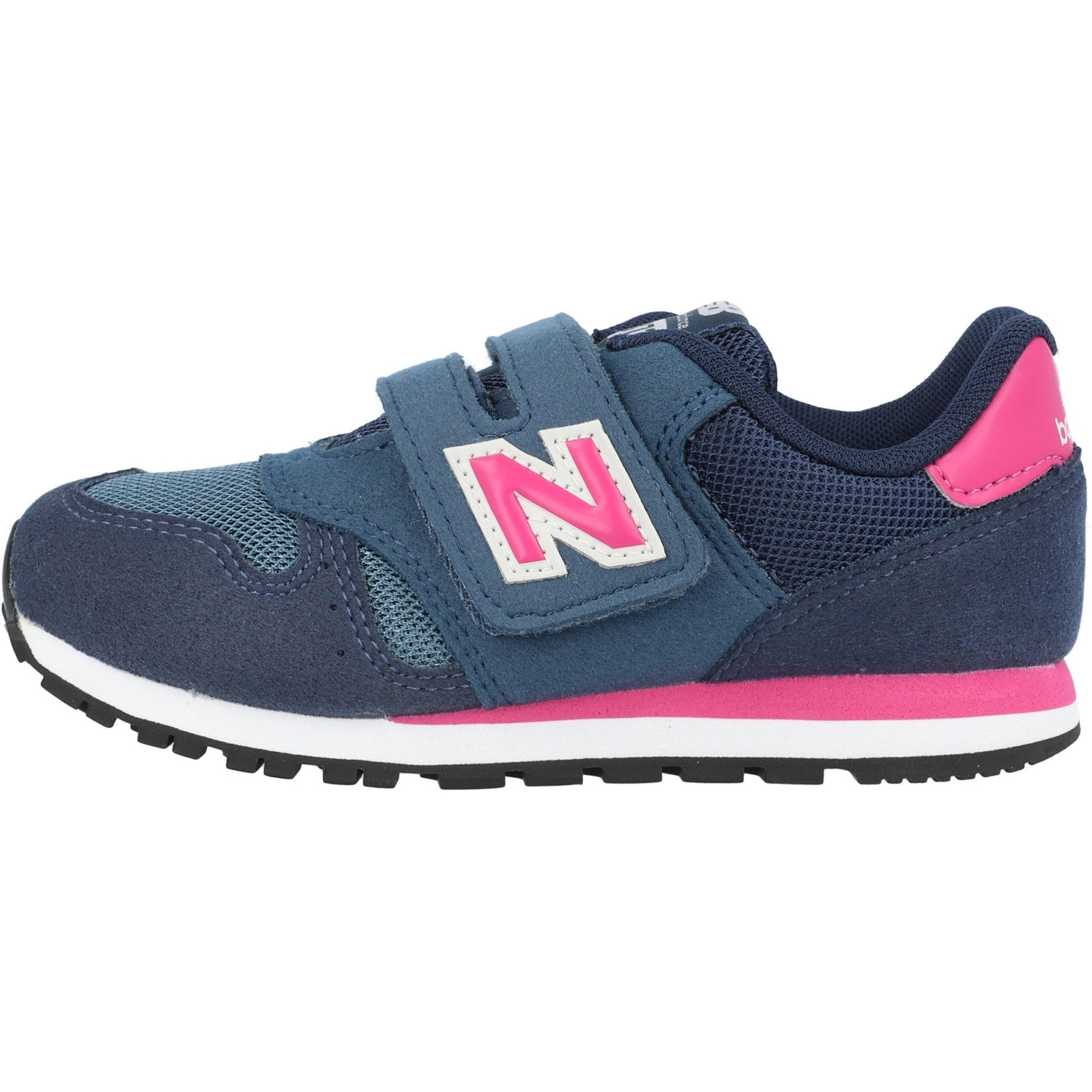 New Balance 373 Blau/Rosa (Stone Blue/Exuberant Pink) Veloursleder Kinder