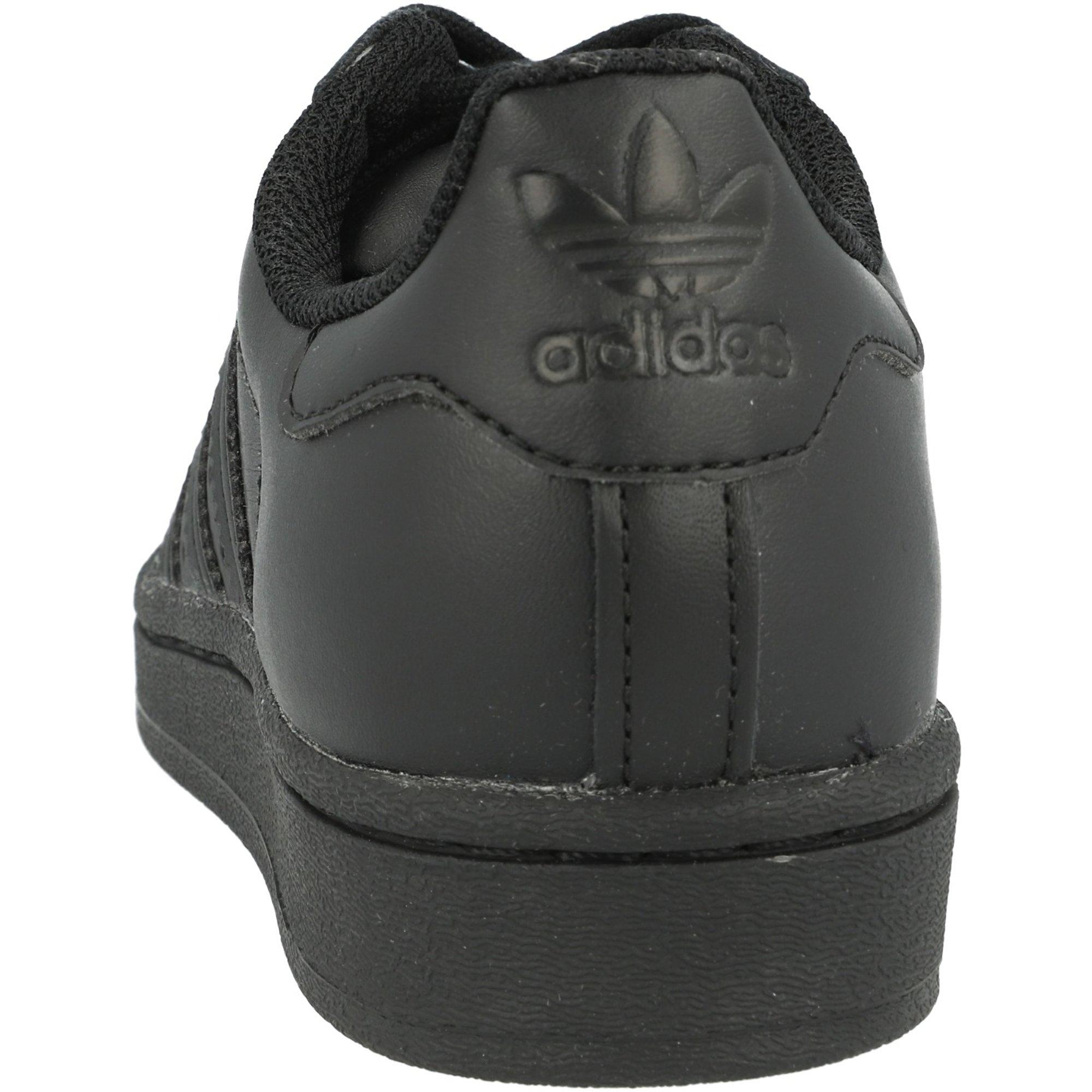 adidas Originals Superstar J Core Black Leather