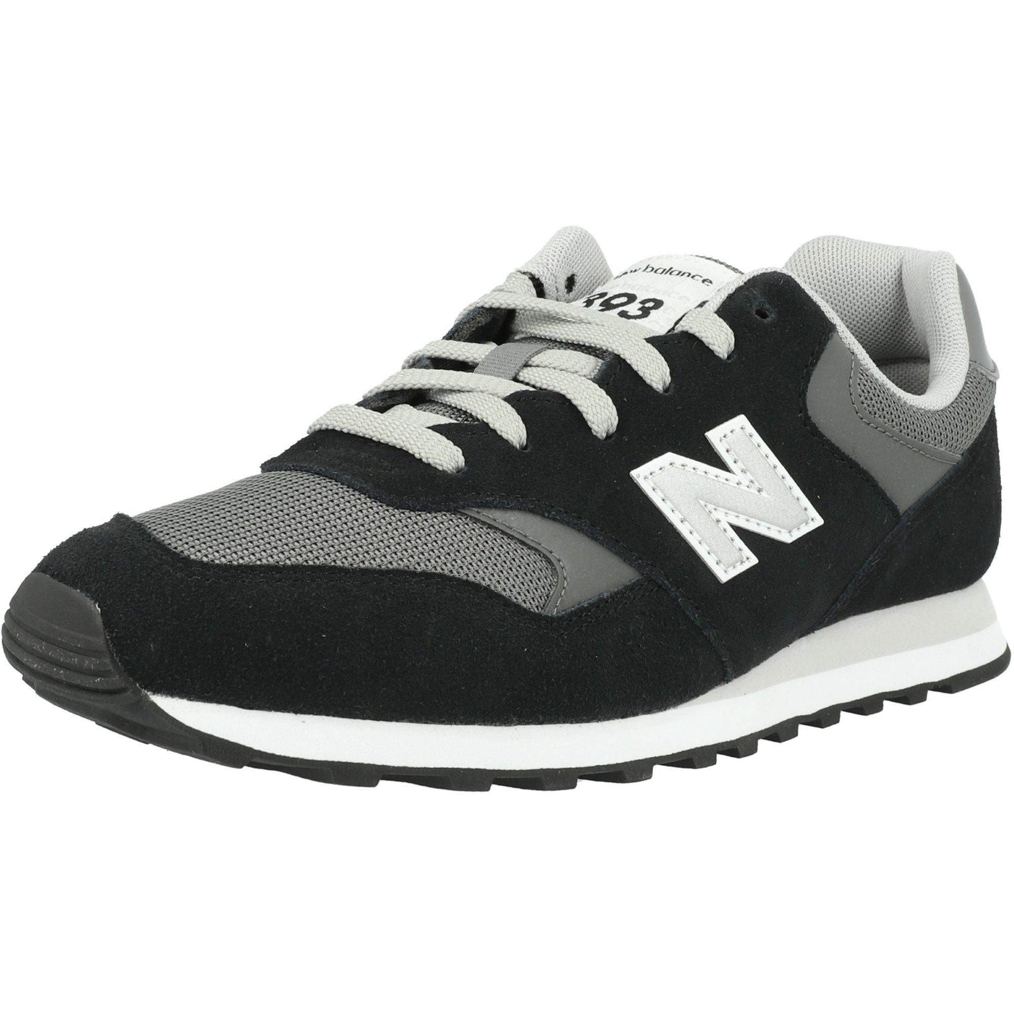 New Balance 393 Black/Castlerock Suede