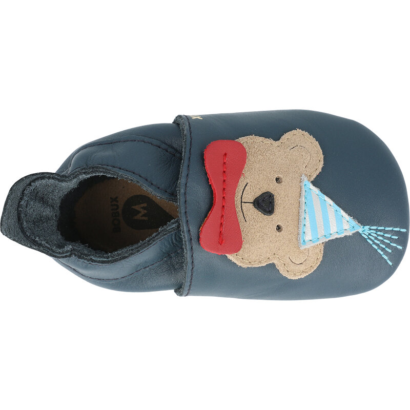 Bobux Soft Sole Party Bear Navy Leather