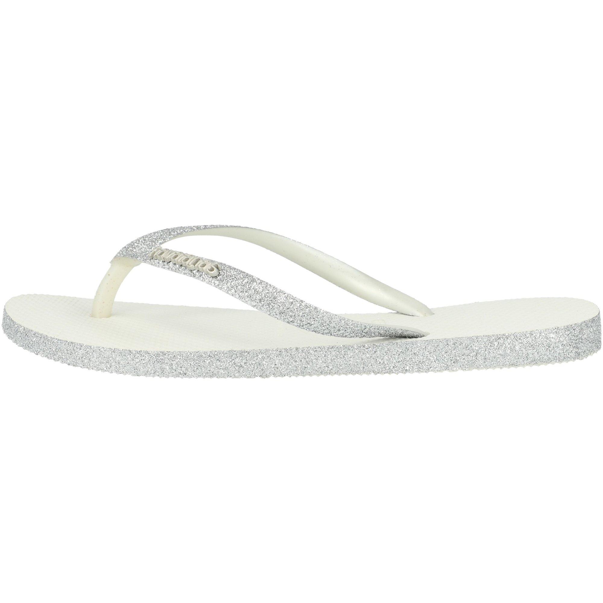 Havaianas Slim Sparkle White Rubber