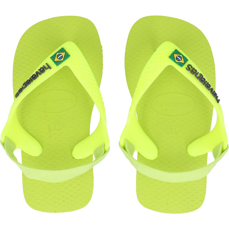 Havaianas Baby Brasil Logo II Galactic Green Rubber