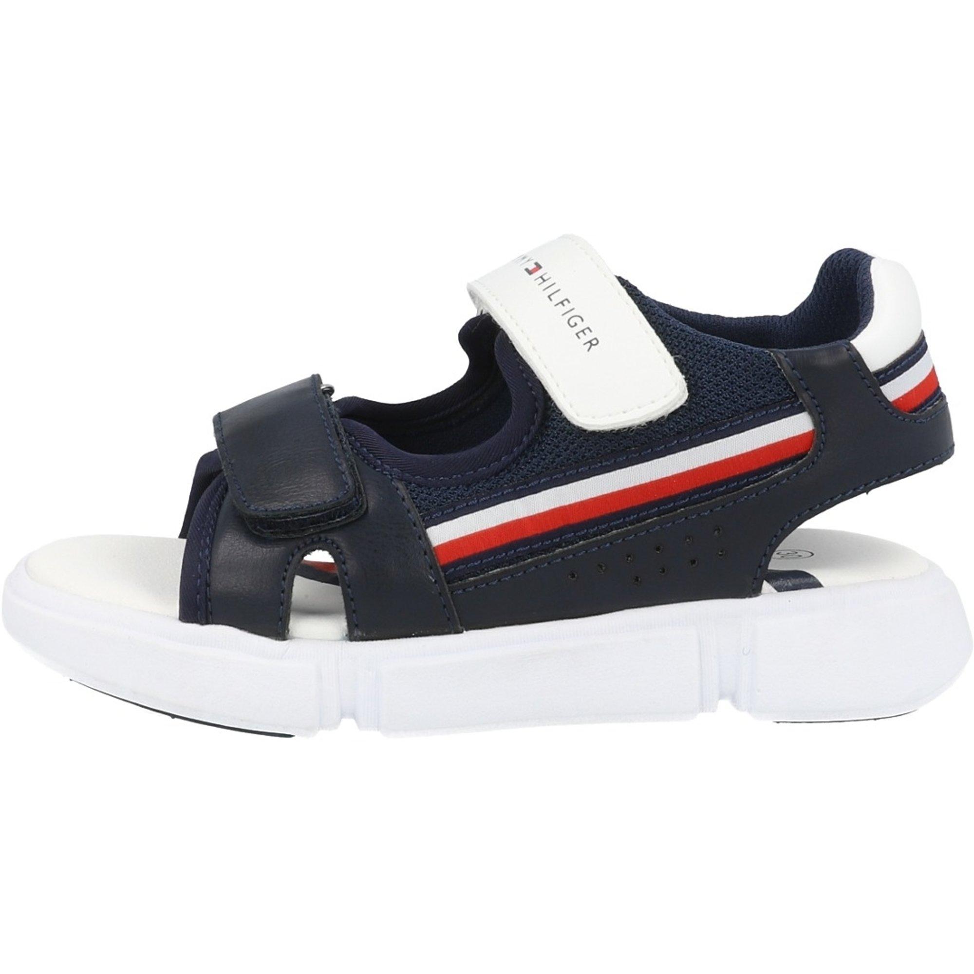 Tommy Hilfiger Slide Wei/ß Eco Leder Kinder Folien Sandalen