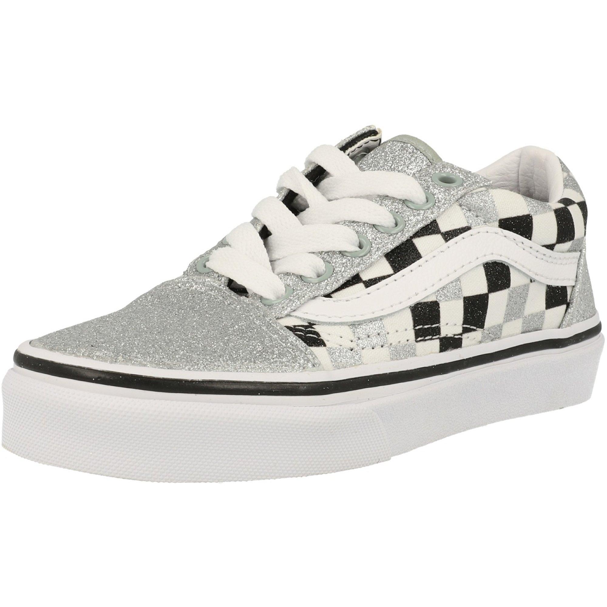 Vans UY Old Skool Silver Glitter/True