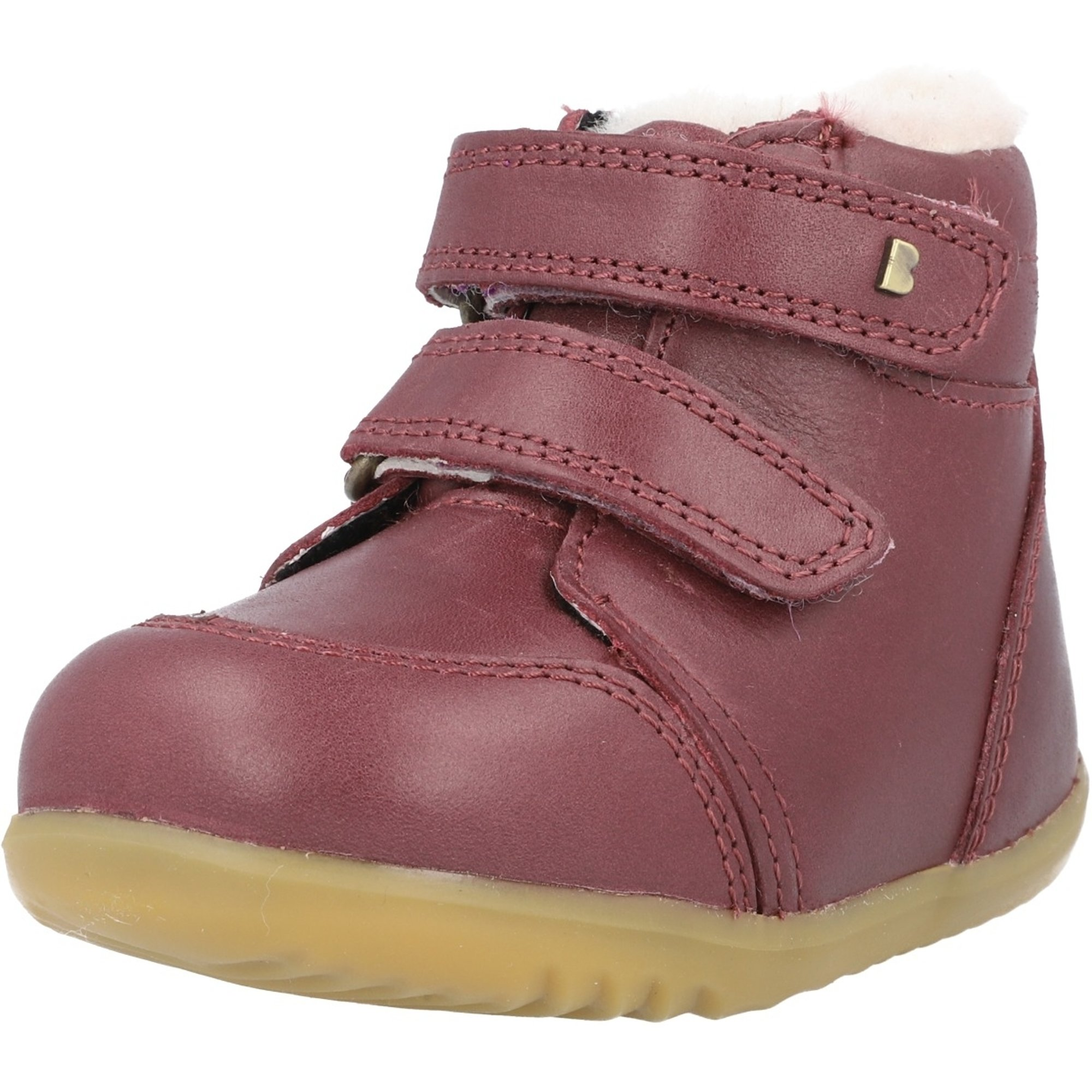 Bobux Step Up Timber Arctic Plum Quickdry Vintage-Look Leather