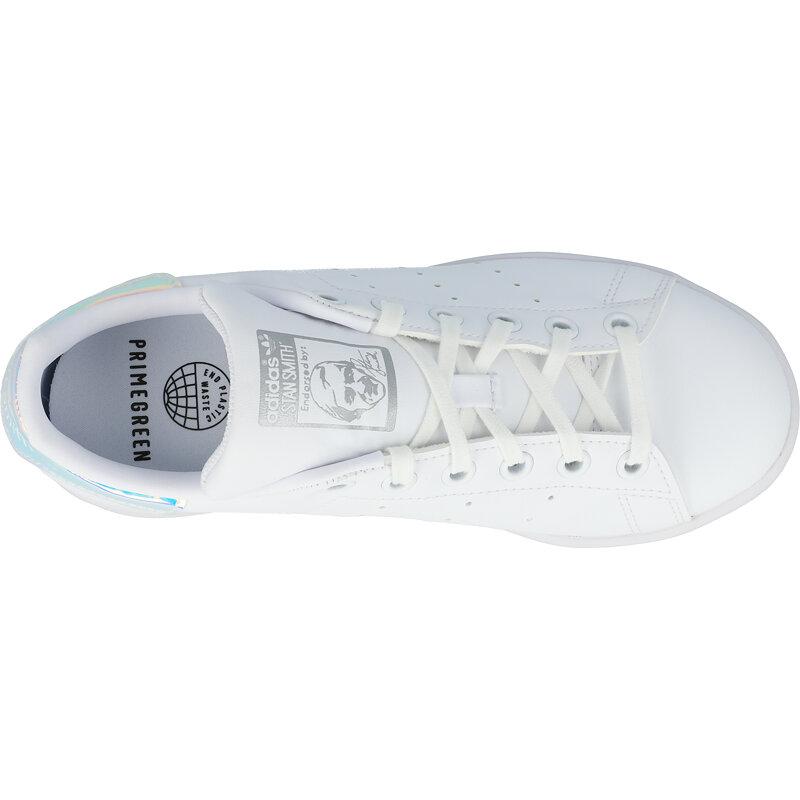 adidas Originals Stan Smith J White/Silver Metallic Synthetic