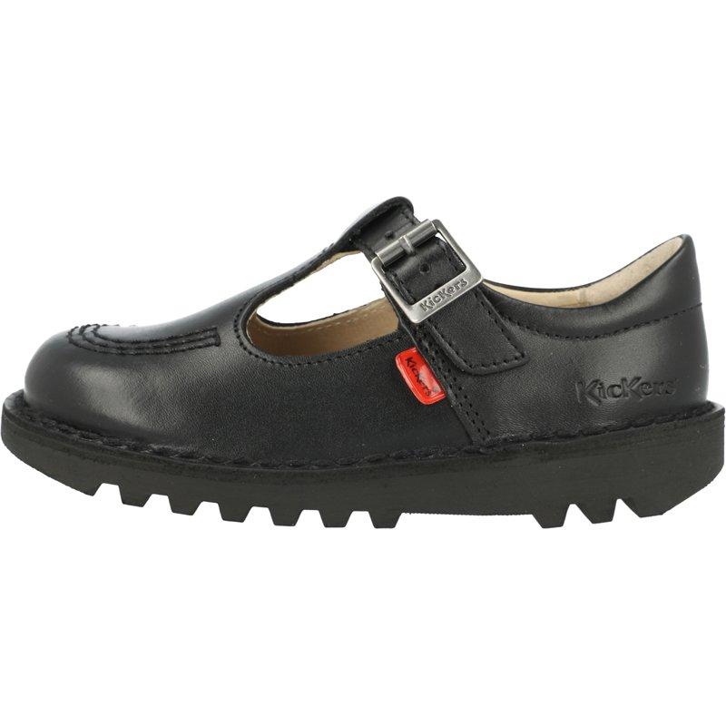 Kickers Kick T I Black Leather