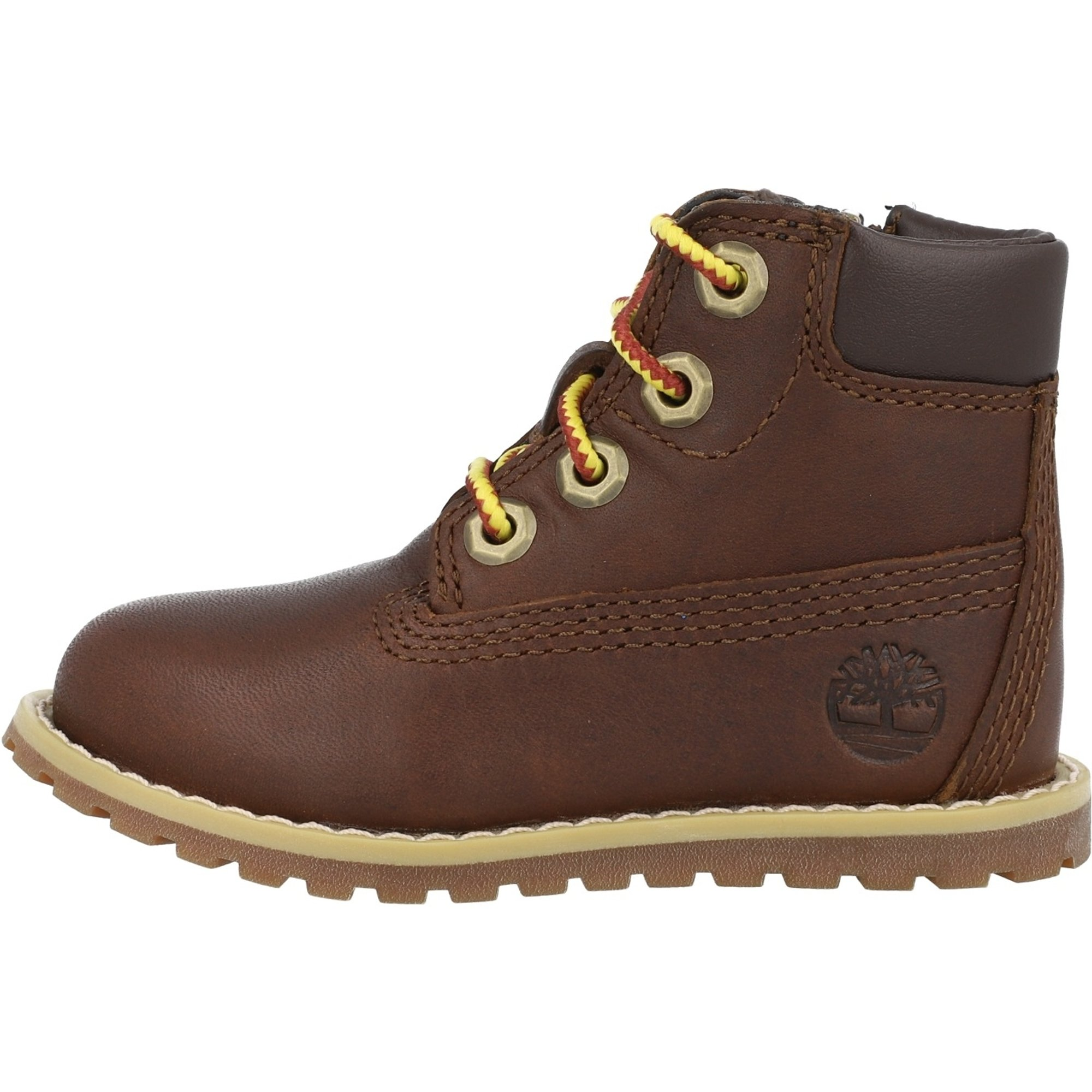 Timberland Pokey Pine 6 Inch Side Zip T Dark Brown Full Grain Leather