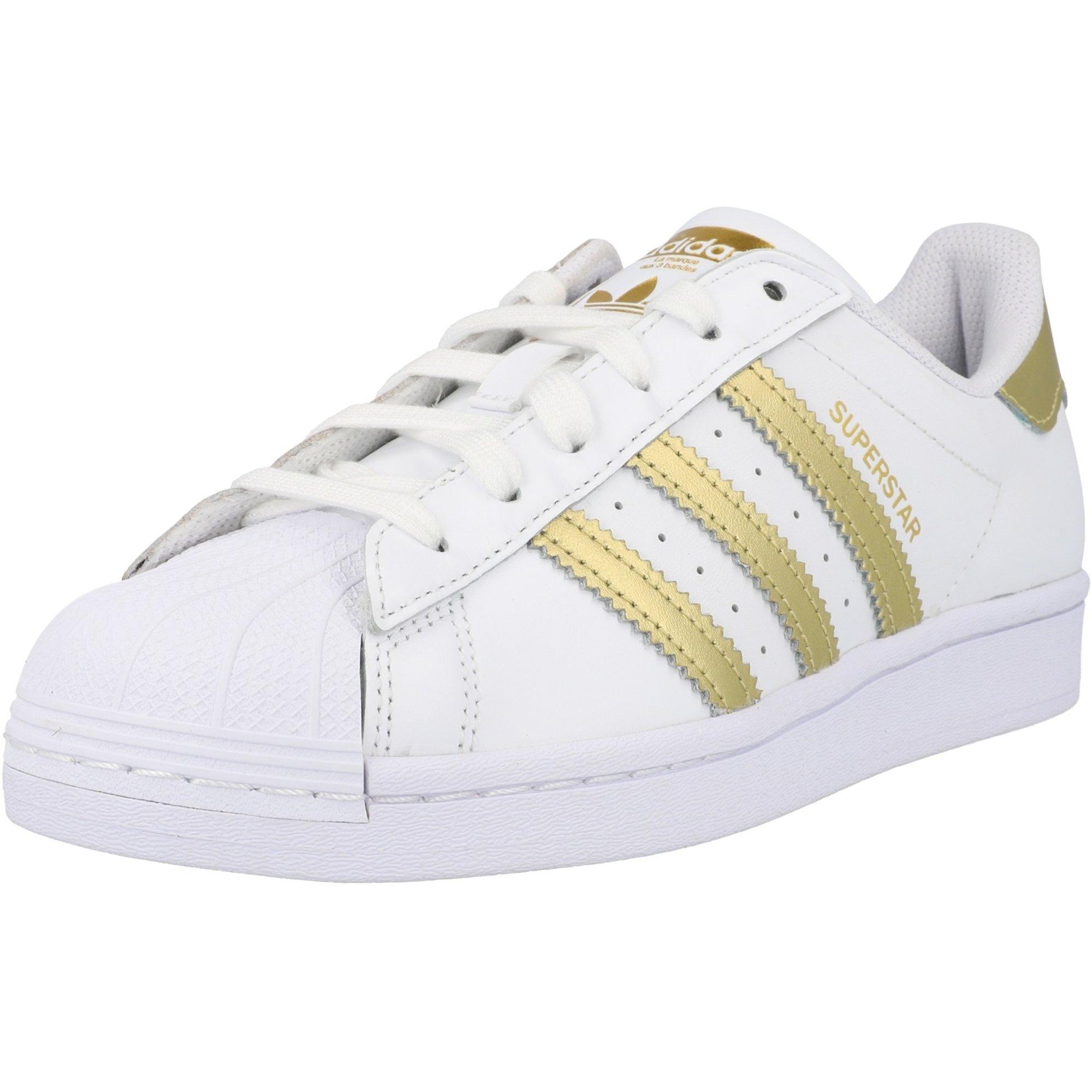 adidas Originals Superstar W White/Gold Metallic Leather