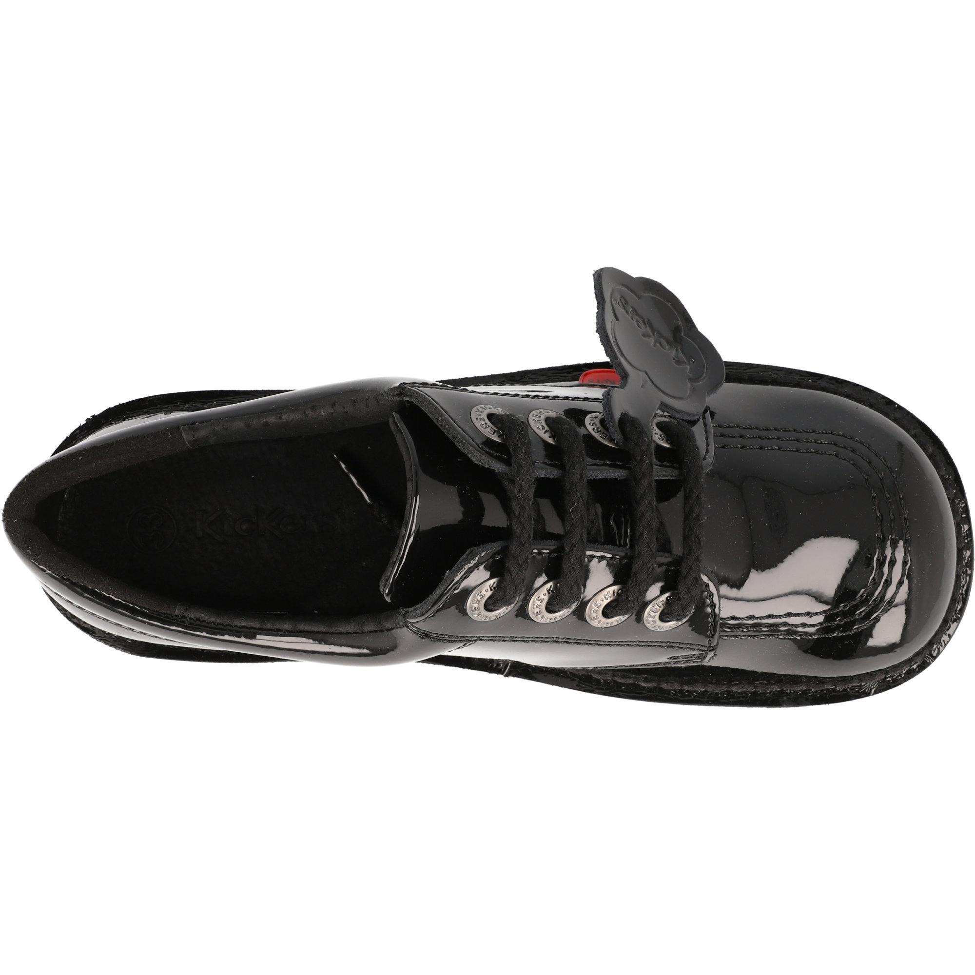 Kickers Kick Lo J Black Patent