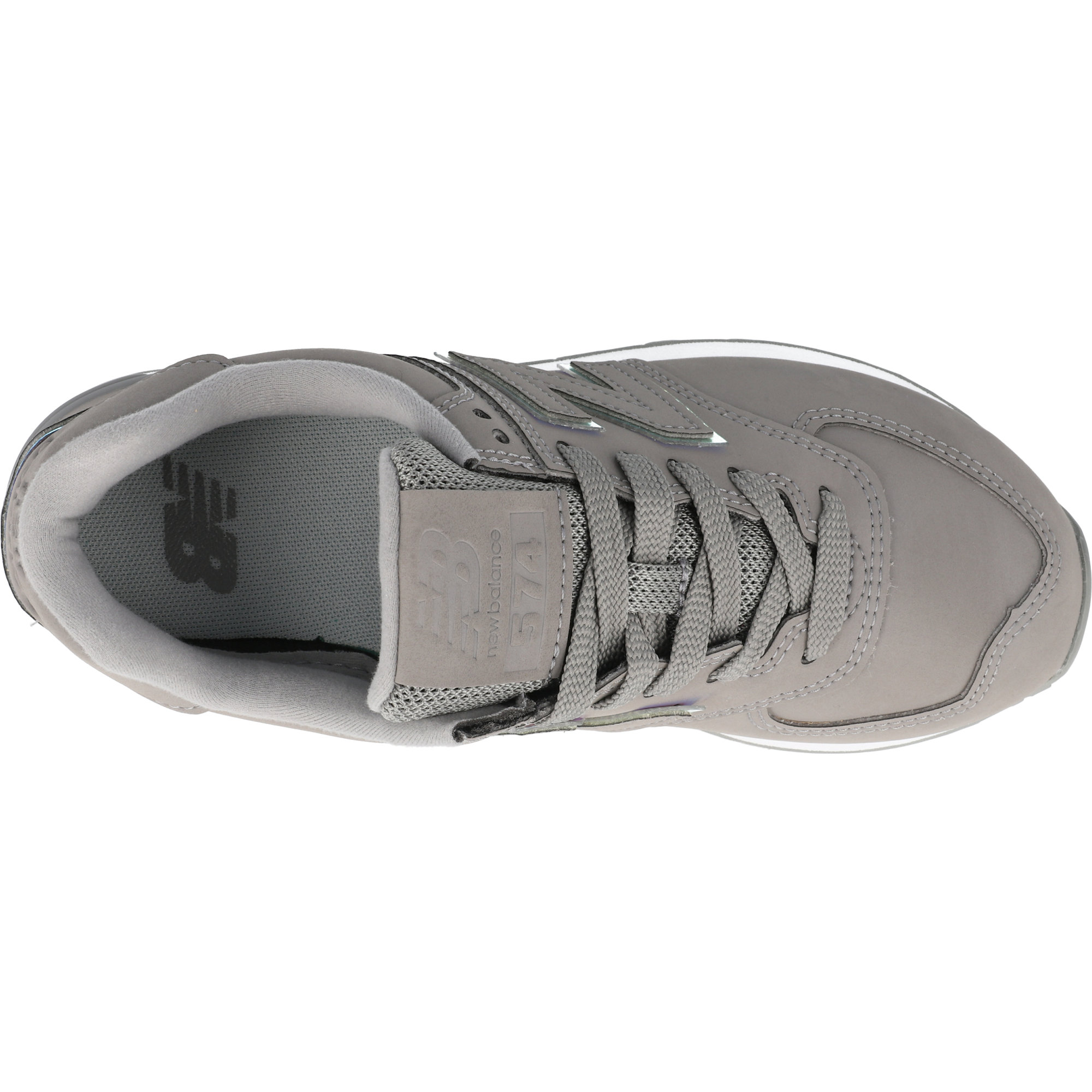 New Balance 574 Black//White Suede Adult Trainers Shoes