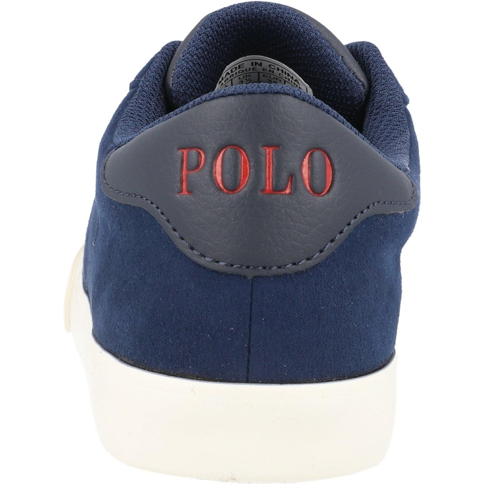 Polo Ralph Lauren Theron III J Navy/Cream Microsuede
