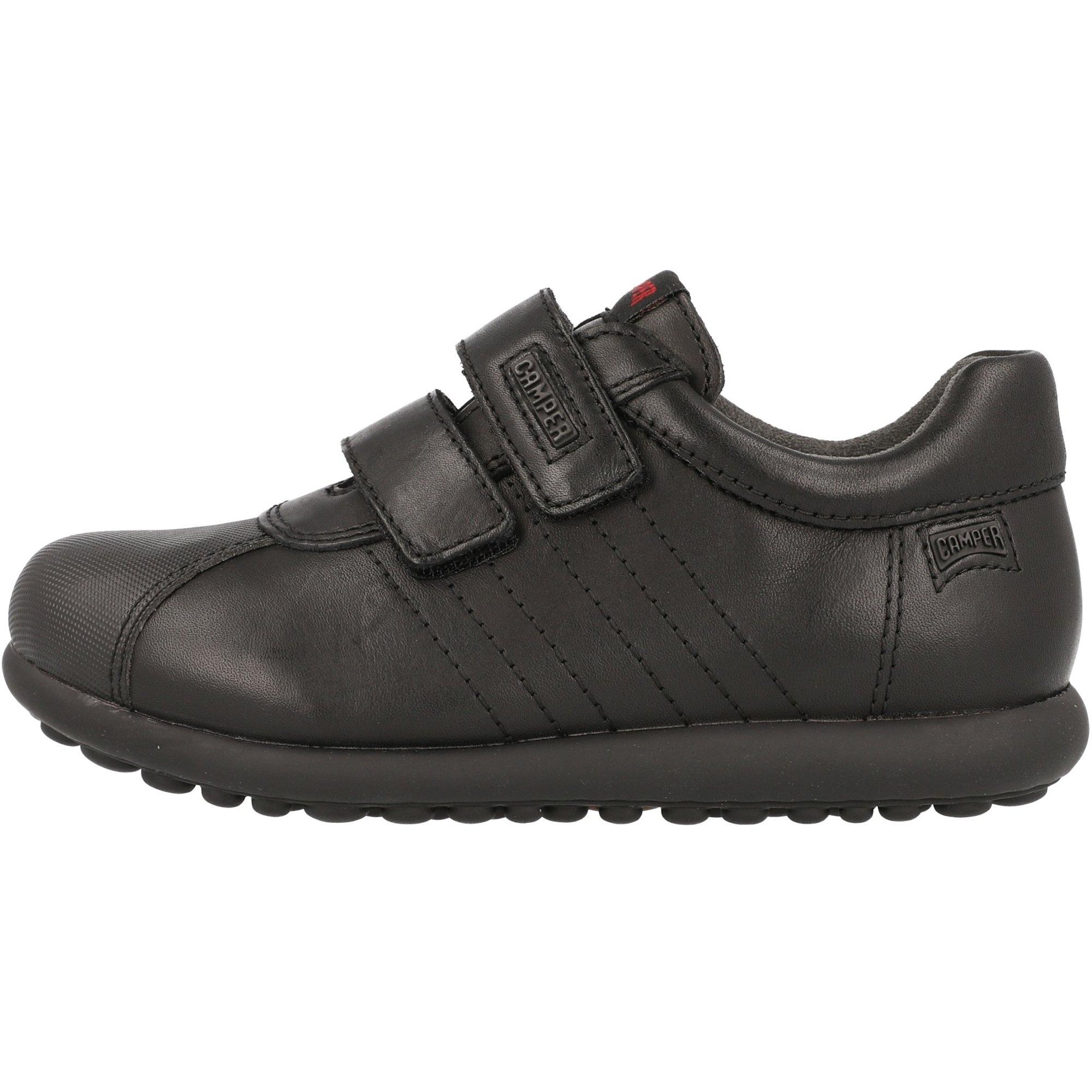 Camper Kids Pelotas Black Leather