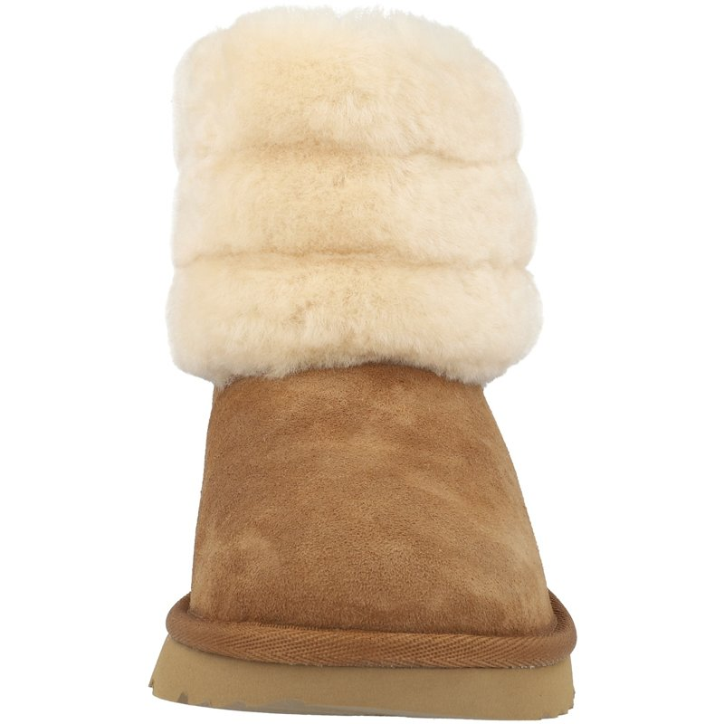 UGG Fluff Mini Quilted K Chestnut Sheepskin