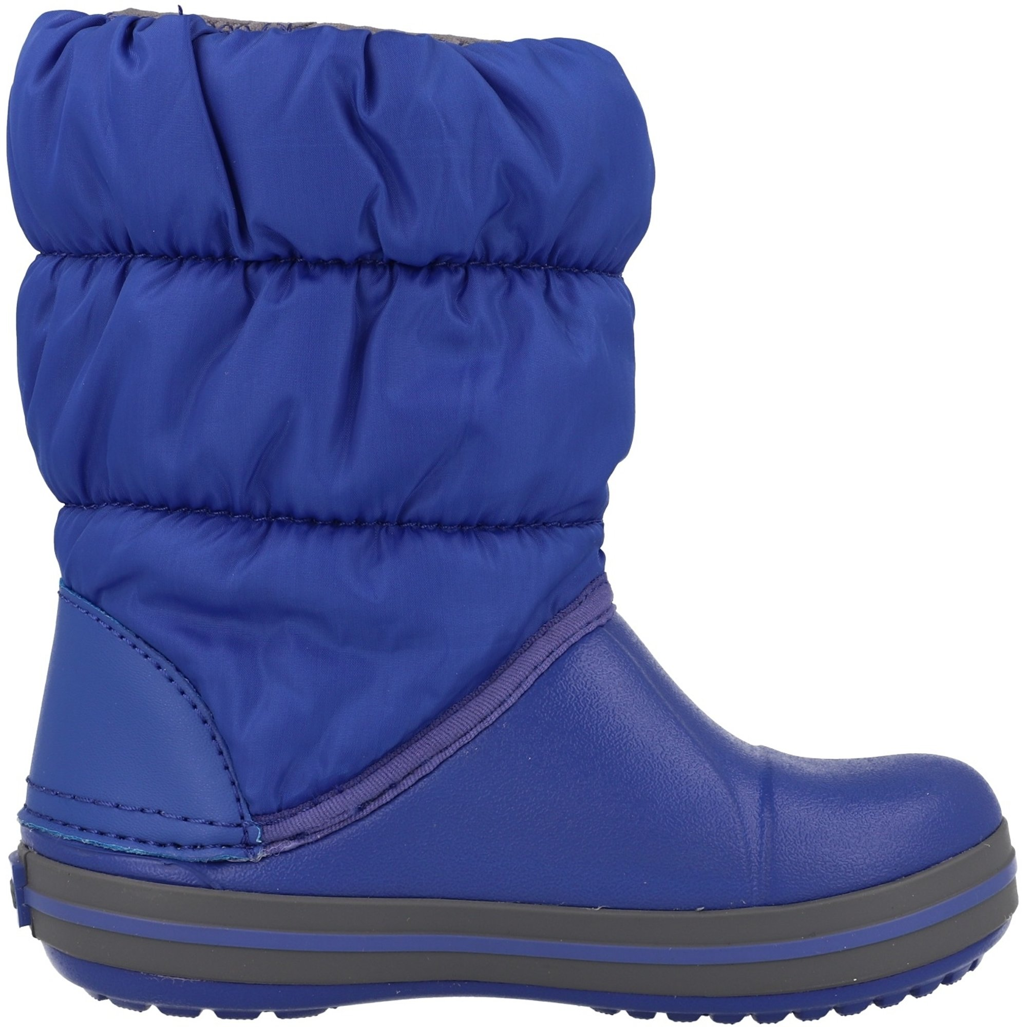 Crocs Kids Winter Puff Boot Cerulean Blue/Light Grey Nylon
