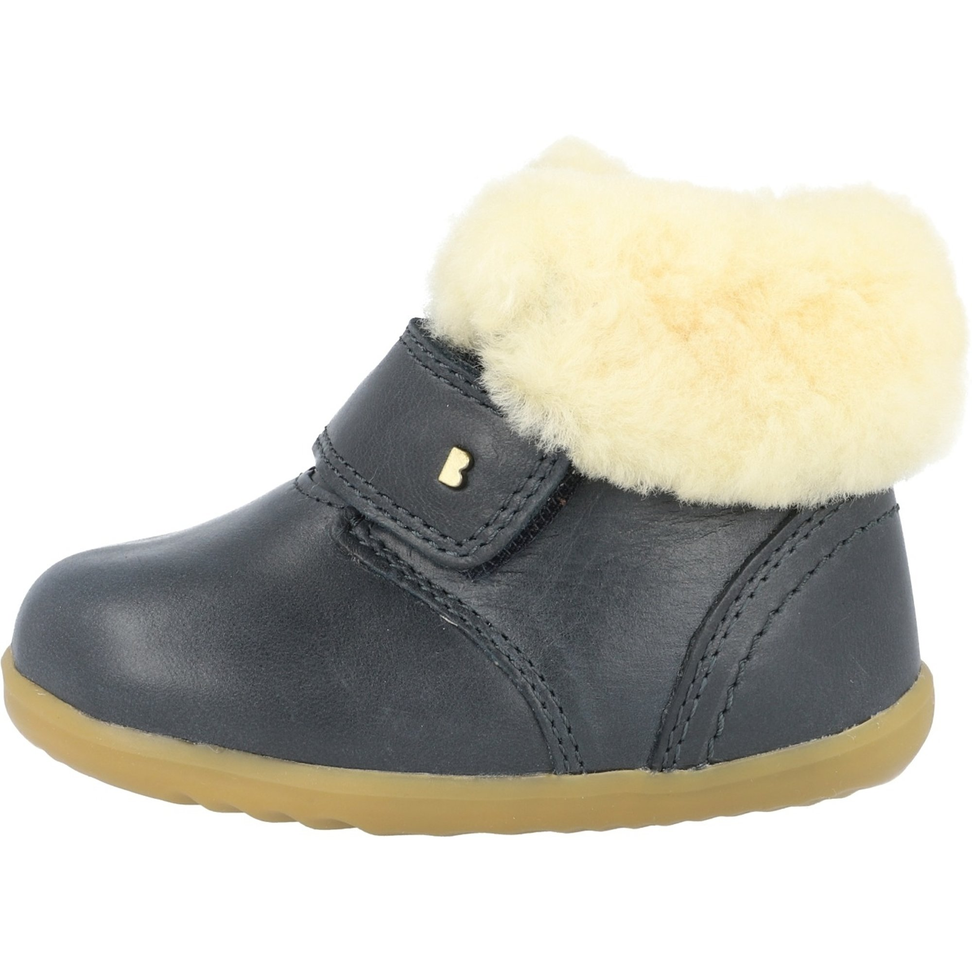 Bobux Step Up Desert Arctic Navy Quickdry Vintage-Look Leather