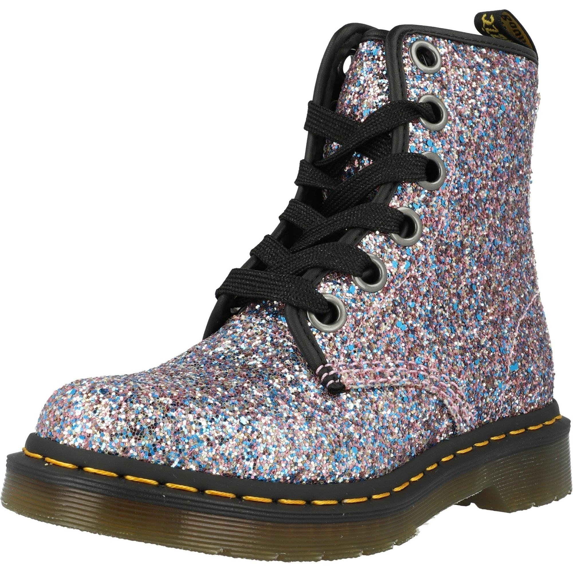 glitter chunky boots