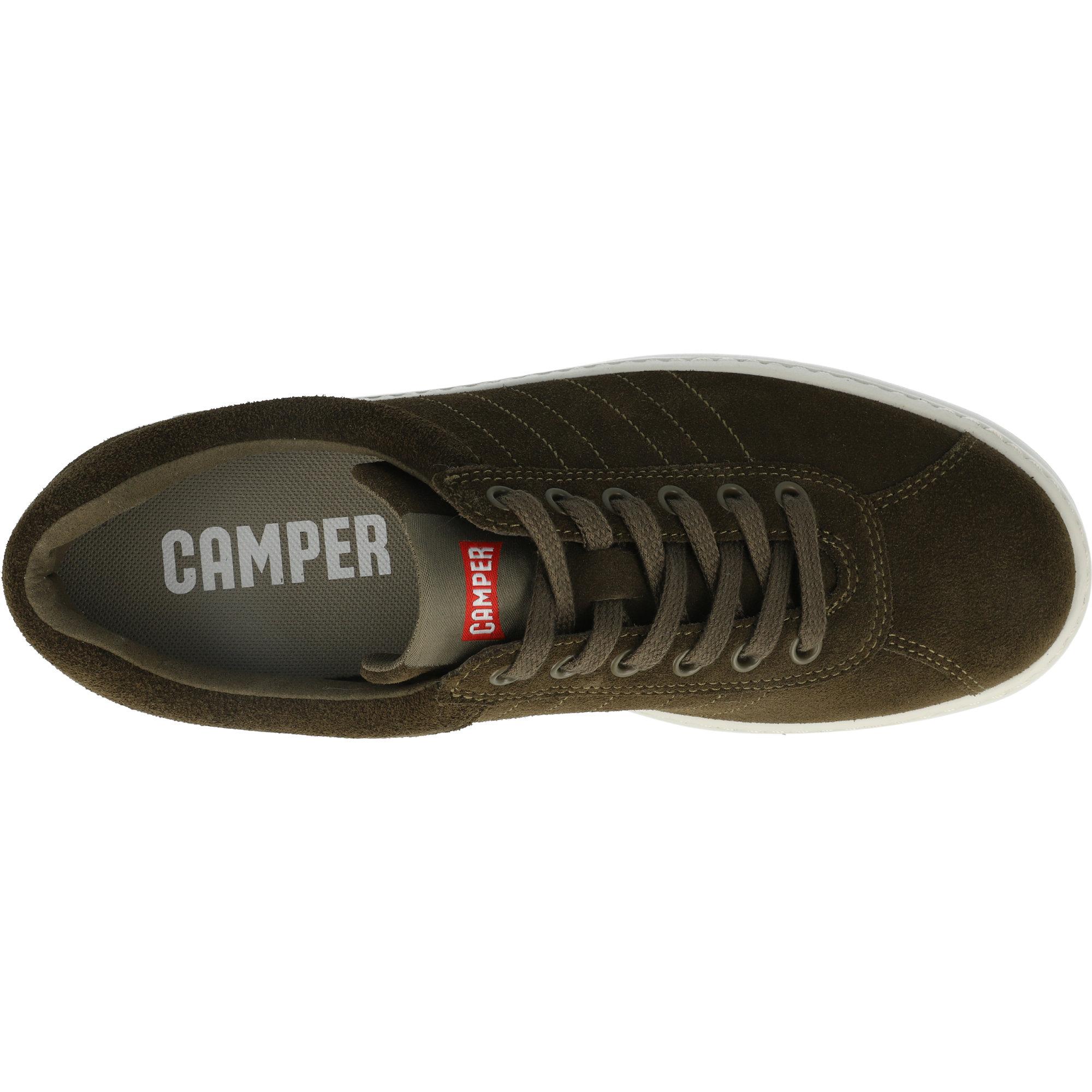 Camper Runner Dark Green Leather