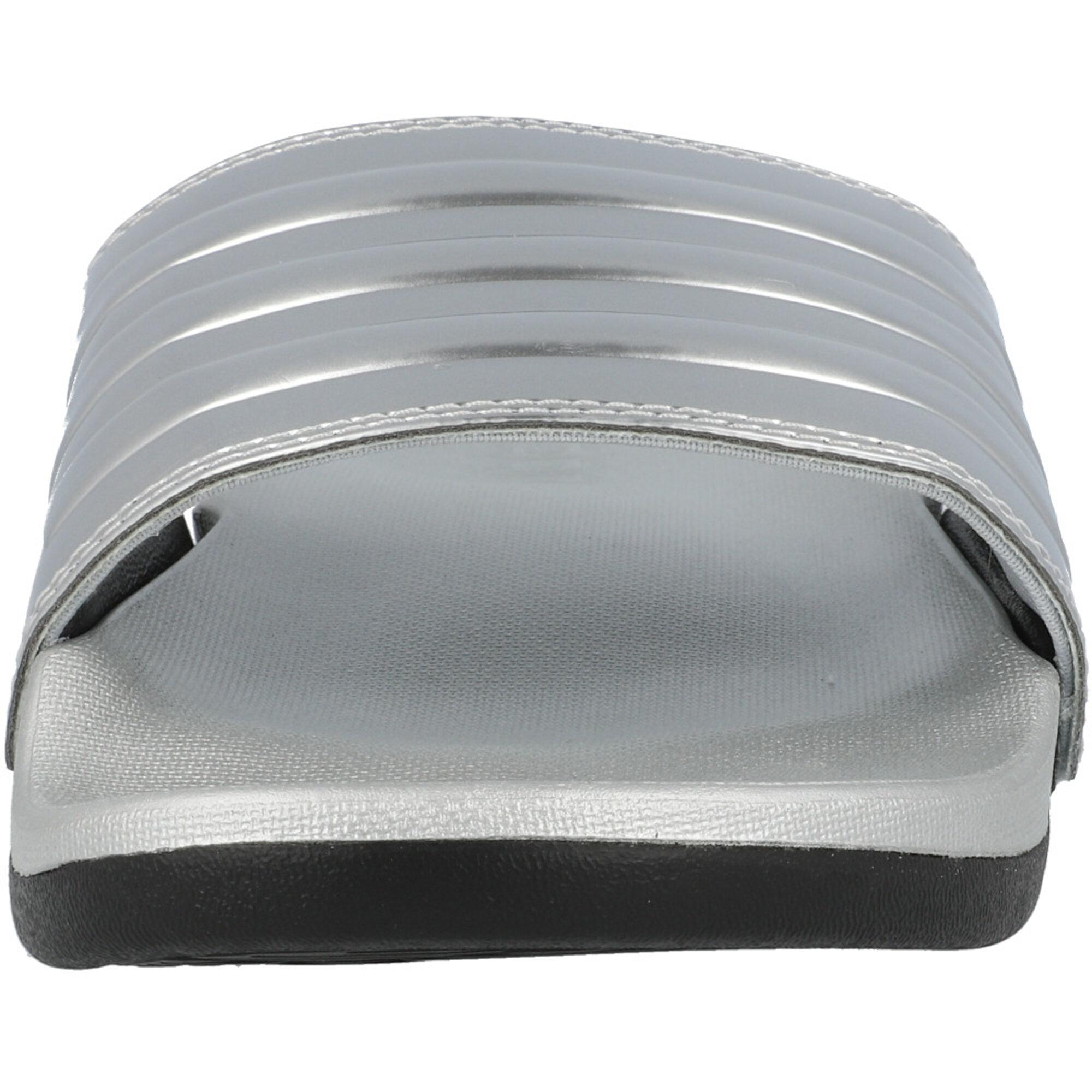 adidas adilette Comfort Silver Metallic/Core Black Synthetic