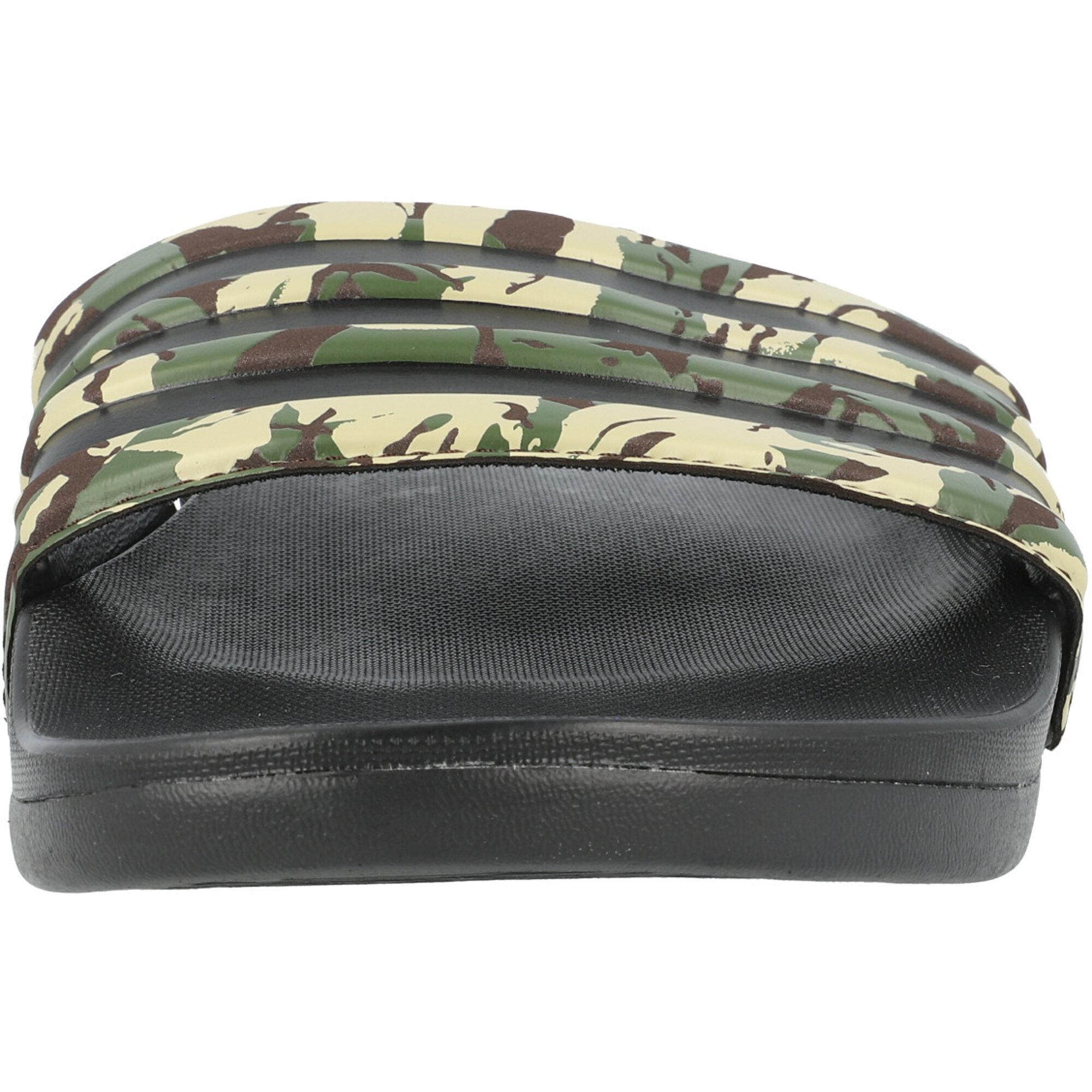 adidas adilette Comfort Core Black/Dark Brown Synthetic
