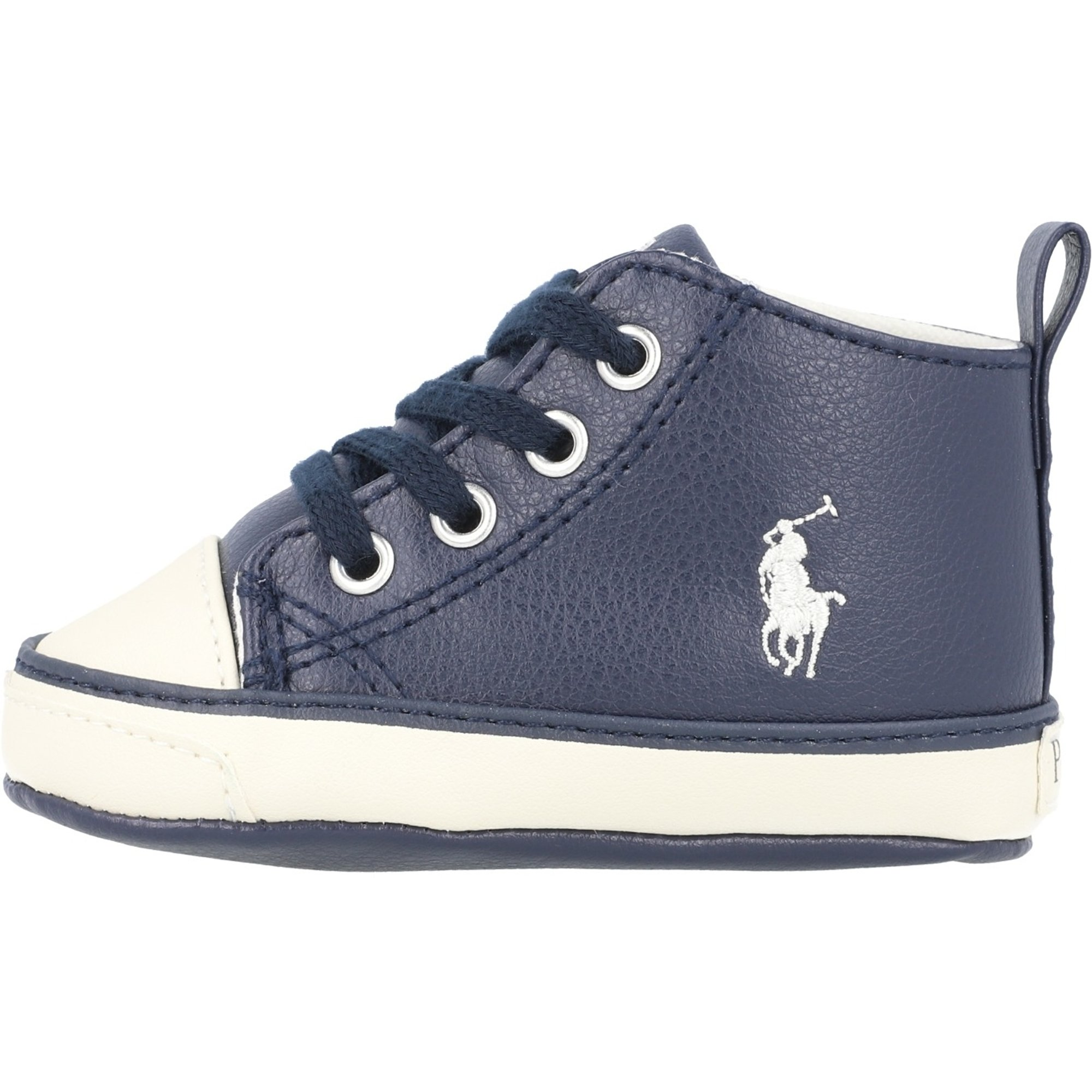 Polo Ralph Lauren Hamptyn Hi Layette Navy/Off White Tumbled