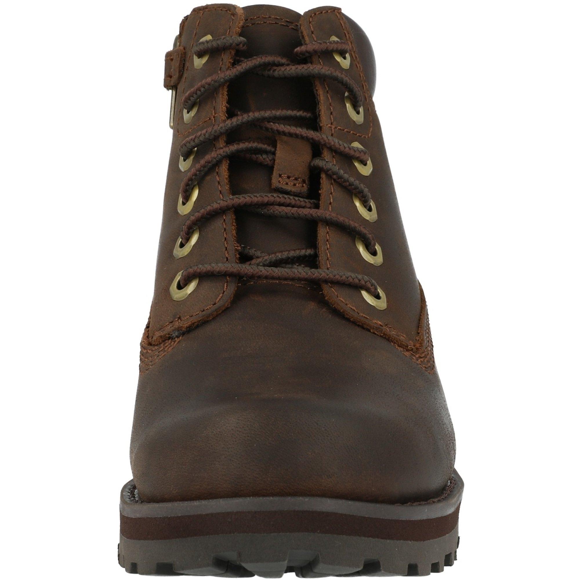 Timberland Courma Kid 6 Inch Side Zip Y Dark Brown Full Grain Leather