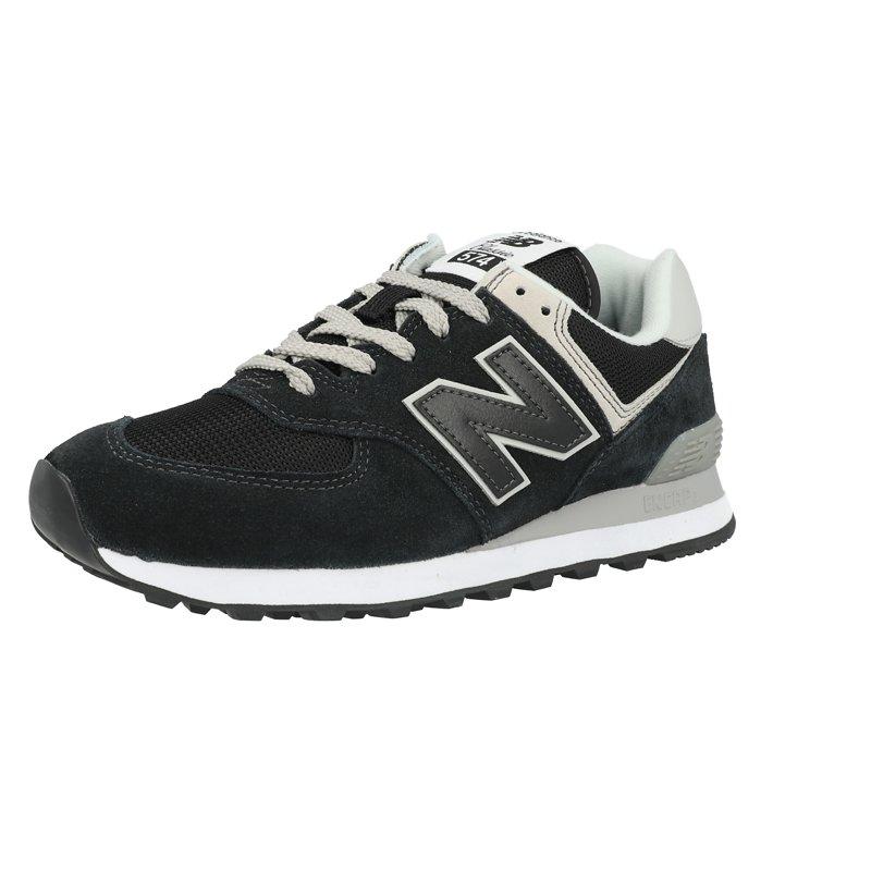 New Balance 574 Nero Scamosciata - Formatori Scarpe - Awesome Shoes