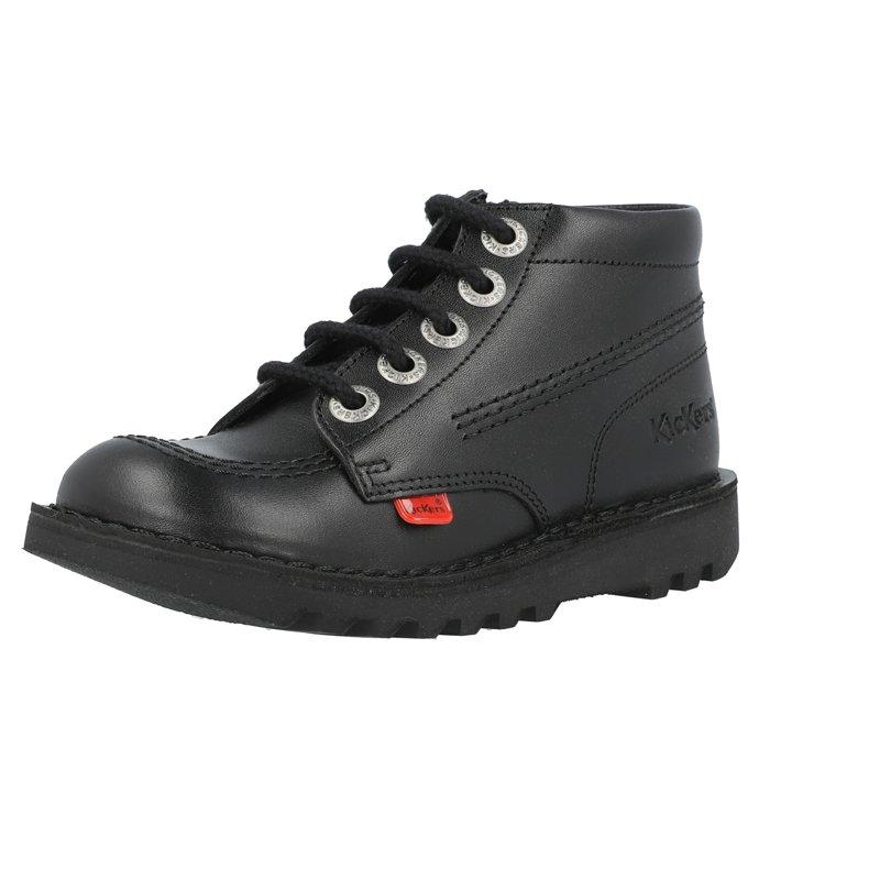 Kickers Kick Hi Zip J Black Leather