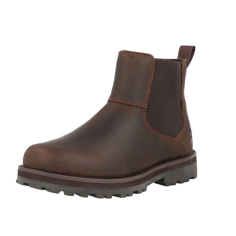 Timberland Courma Kid Chelsea Y Dark Brown Full Grain Leather