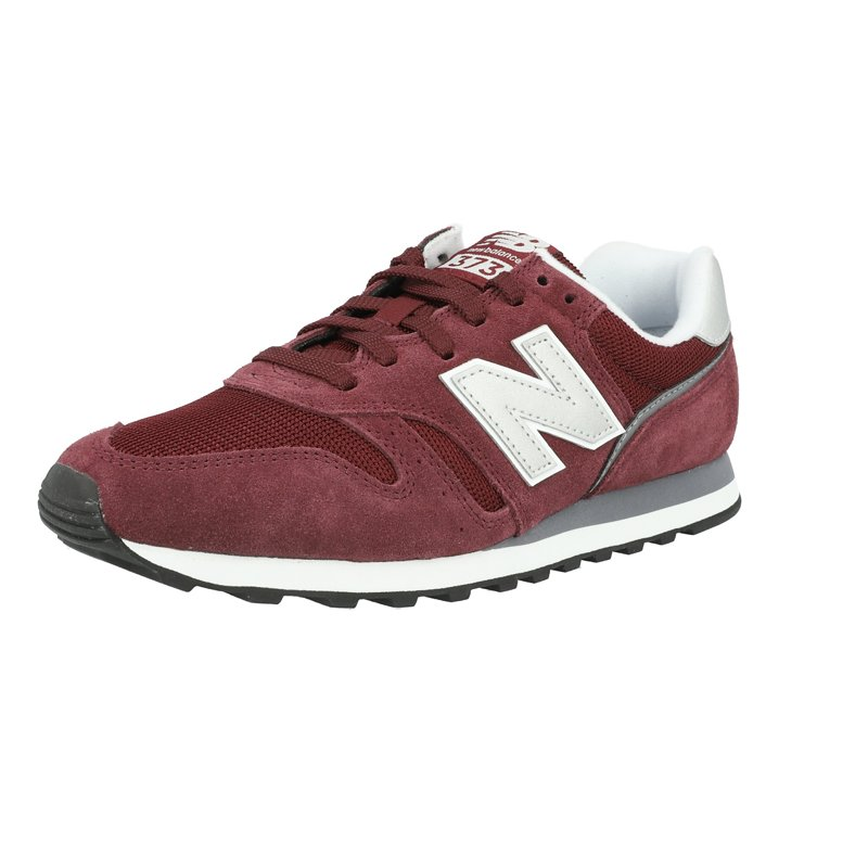 New Balance 373 Burgundy/White Suede Adult