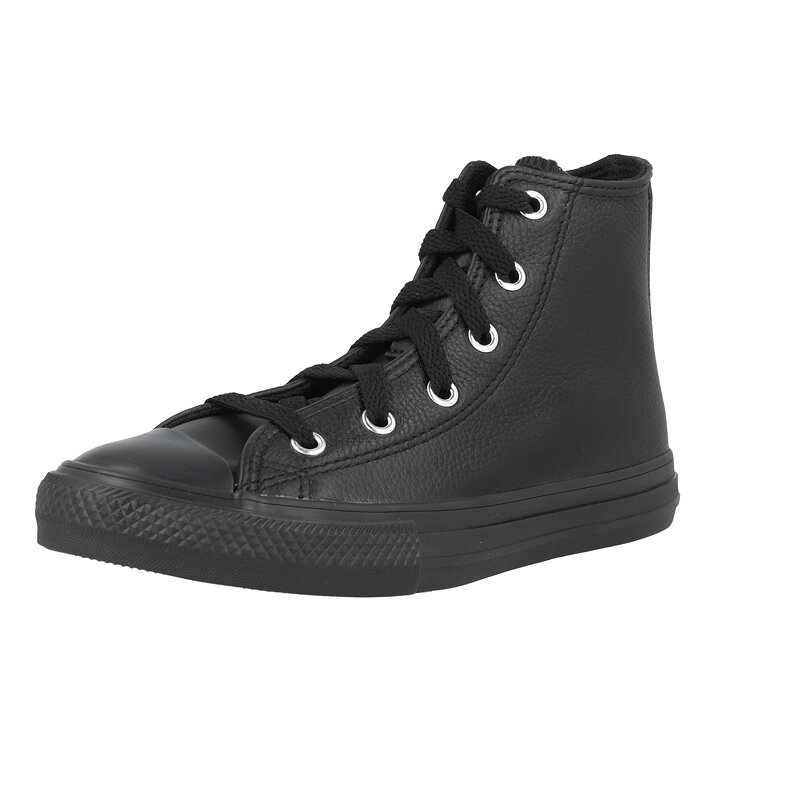 Converse Chuck Taylor All Star Hi Elevated Leather Black Leather