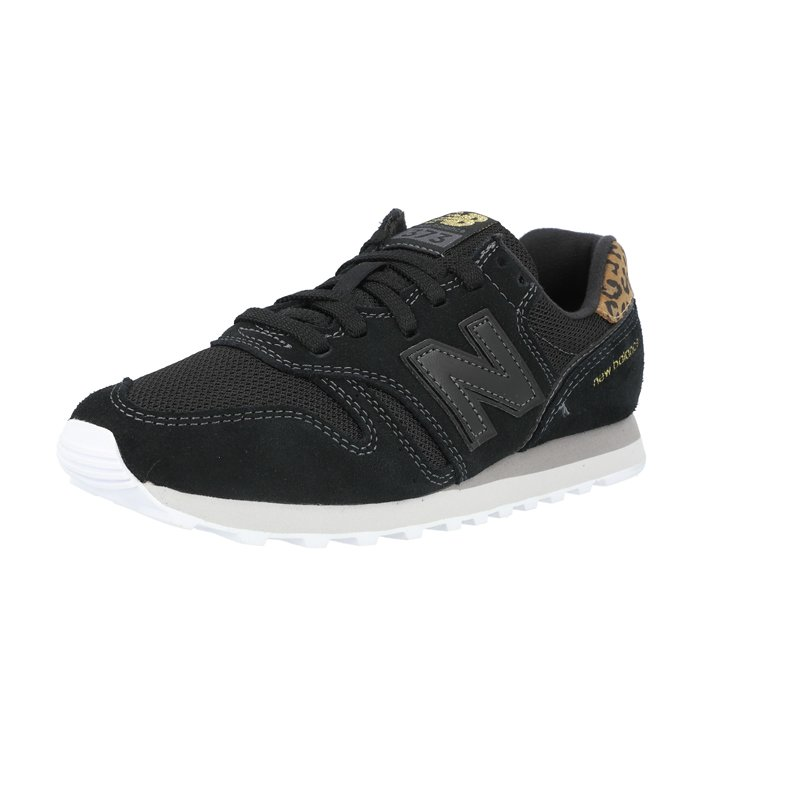 New Balance 373 Black/Gold Suede Adult