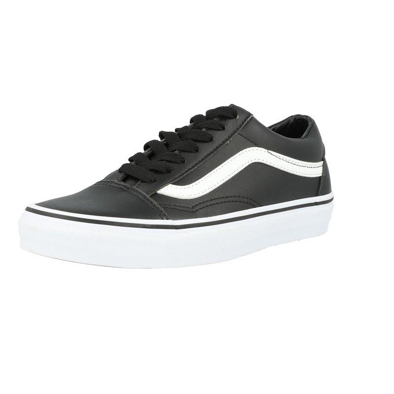 Vans UA Old Skool Noir/Blanc (Black/True White) Cuir Adulte