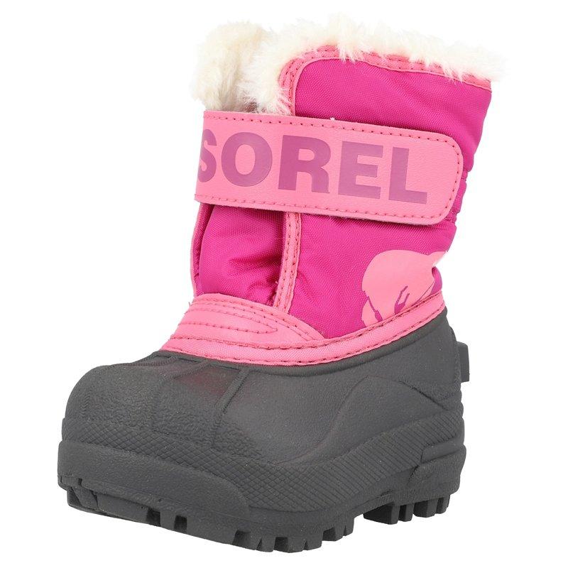 Sorel Snow Commander T Tropic Pink/Deep Blush Synthetic