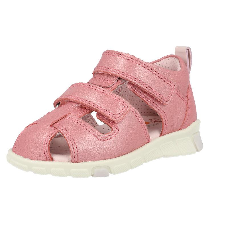 Ecco Mini Stride Sandal Bubblegum Camel Leather
