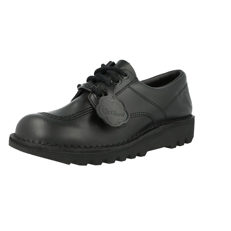 Kickers Kick Lo Luxx Black Leather