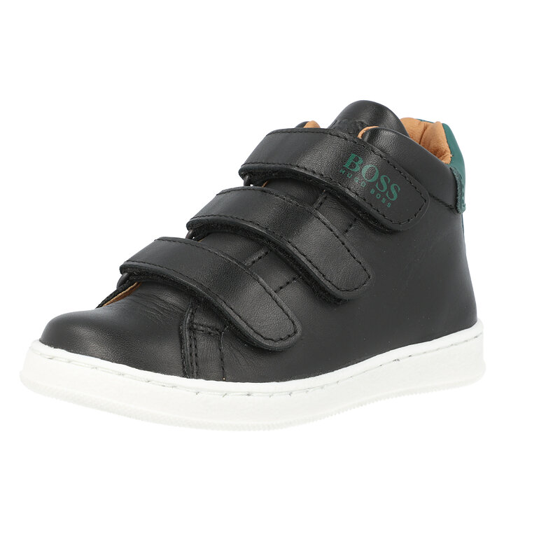 BOSS Trainers Black Leather