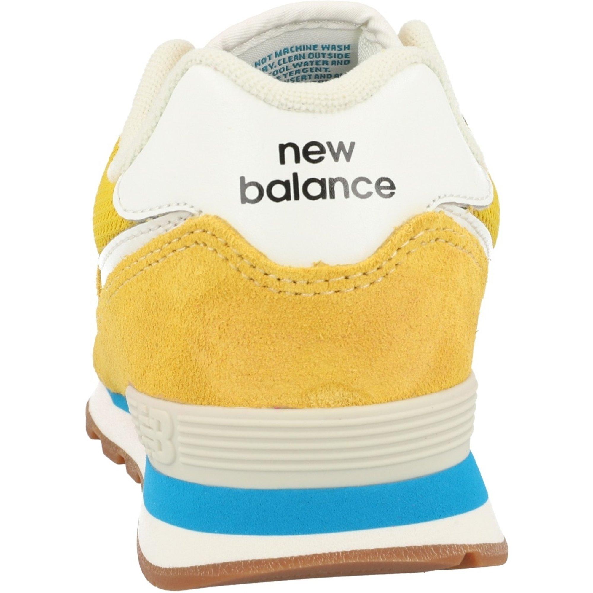 New Balance 574 Varsity Gold/Deep Sky Suede