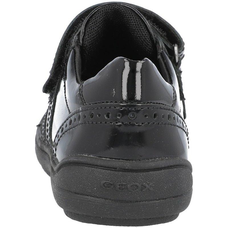 Geox J Hadriel G Black Patent Leather