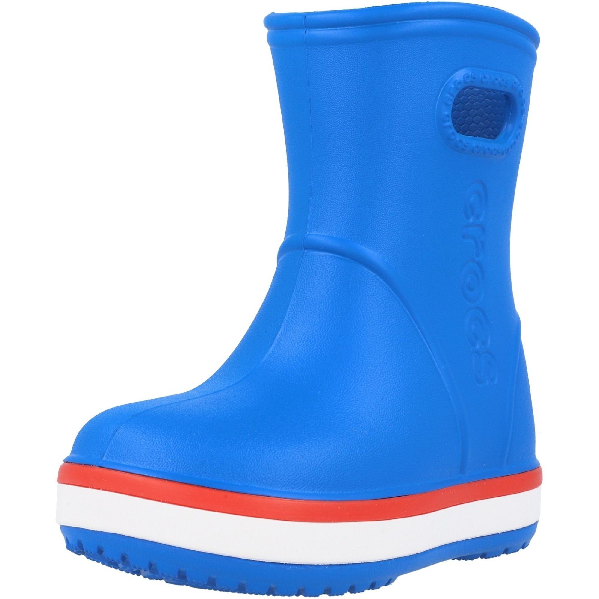 Crocs Kids Crocband Rain Boot Bright Cobalt/Flame Croslite