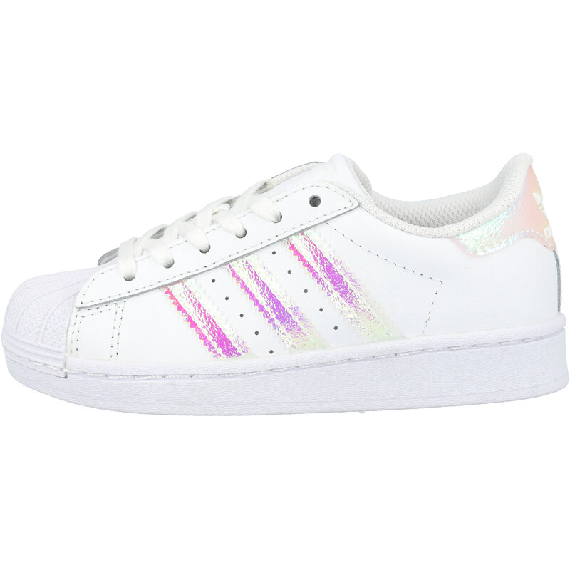 adidas Originals Superstar C White/Iridescent Leather