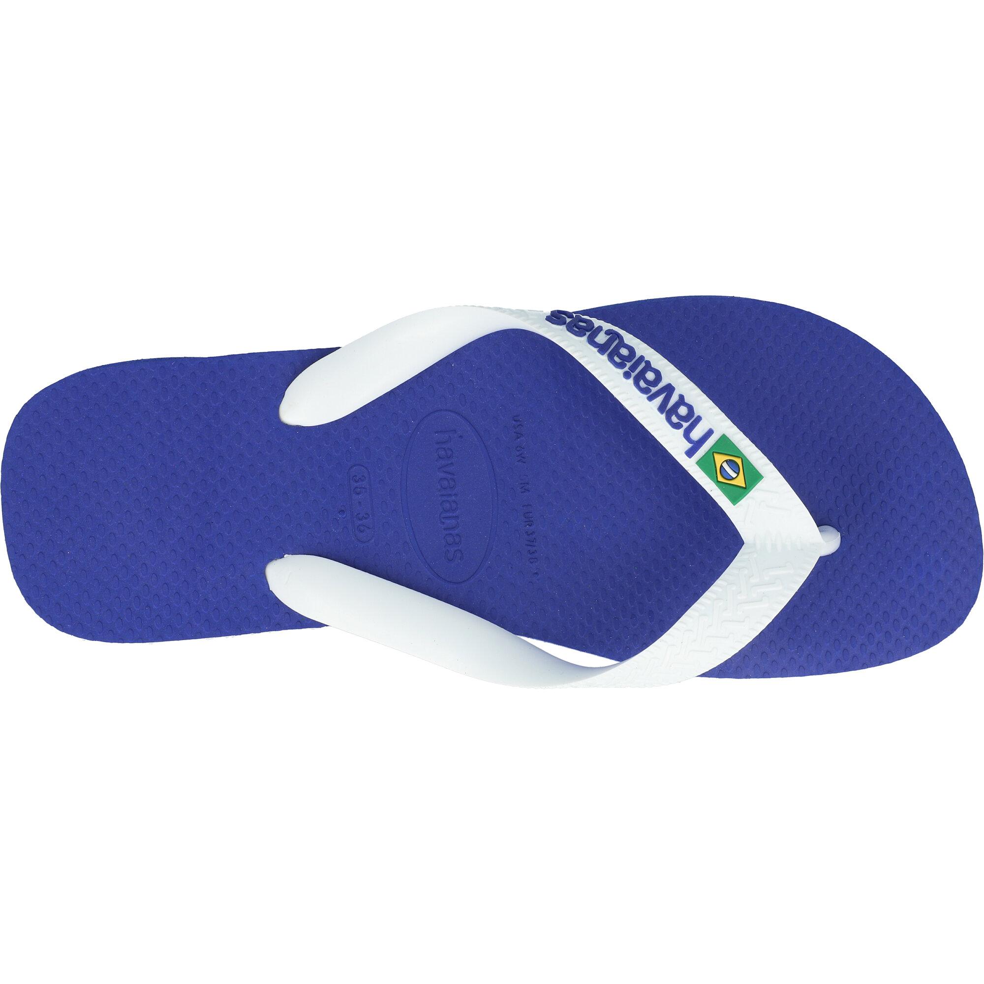 Havaianas Brasil Logo Marine Blue Rubber