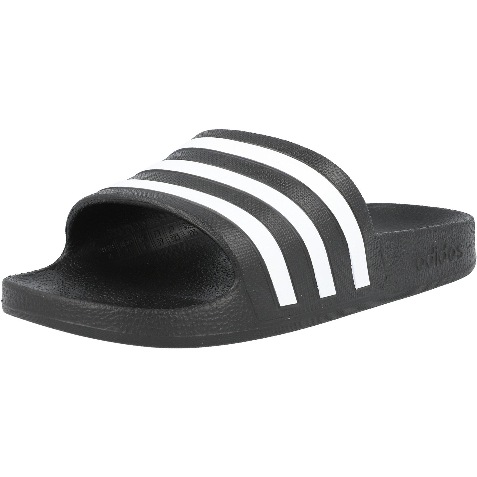 adidas adilette Aqua Core Black/White Synthetic