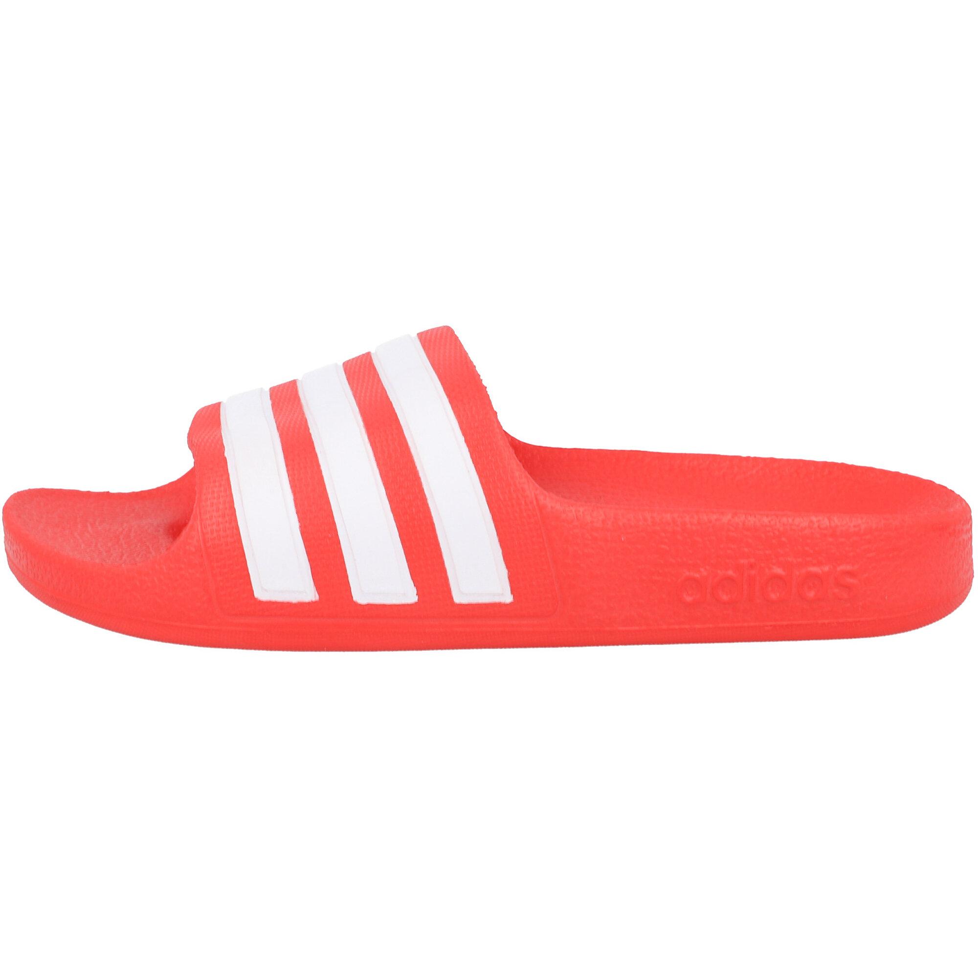 adidas adilette Aqua K Red/White Synthetic