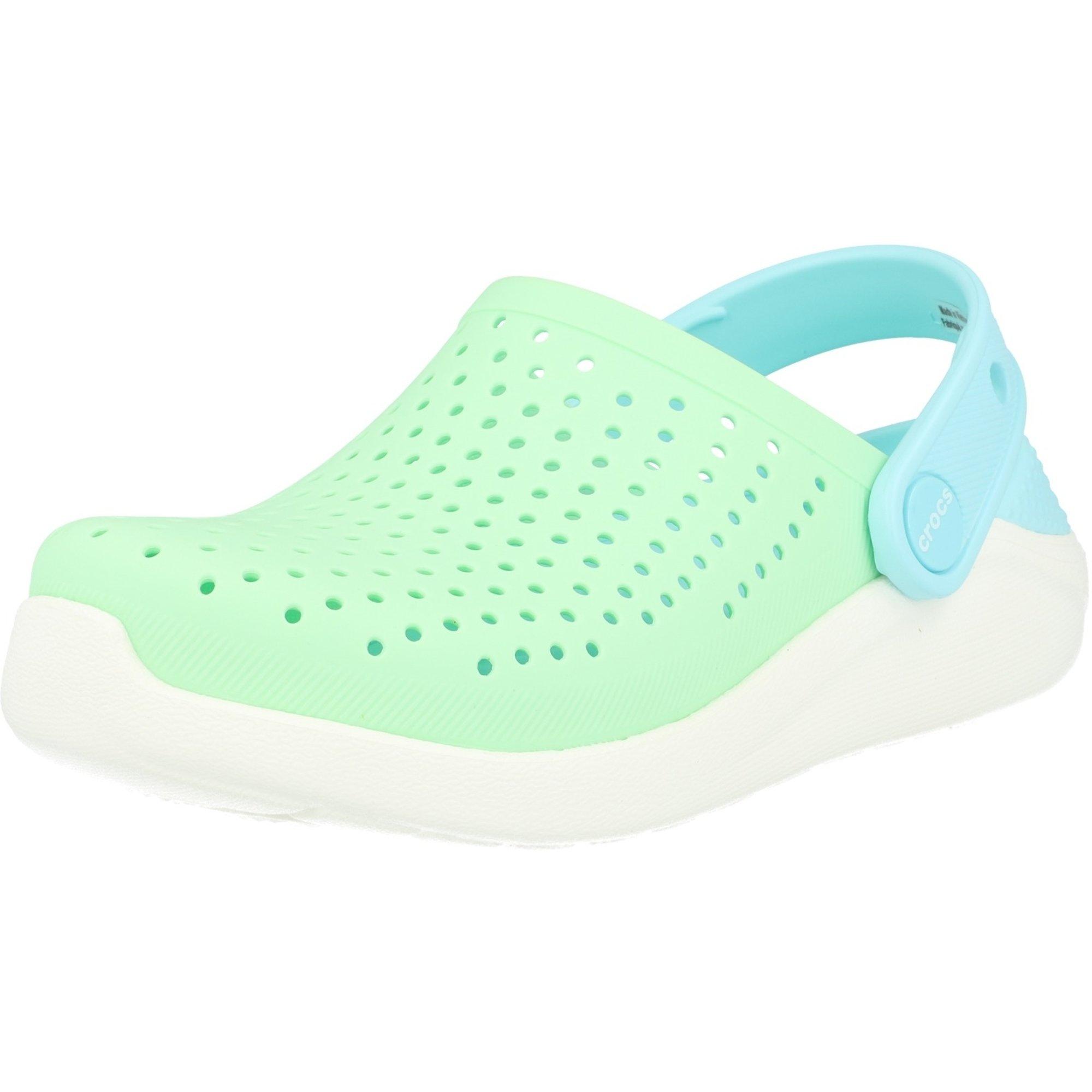 Crocs Kids LiteRide Clog Neo Mint/White Croslite