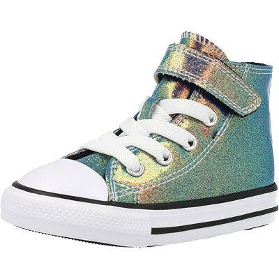 Chuck Taylor All star 1V Hi Iridescent Glitter Infant childrens shoes