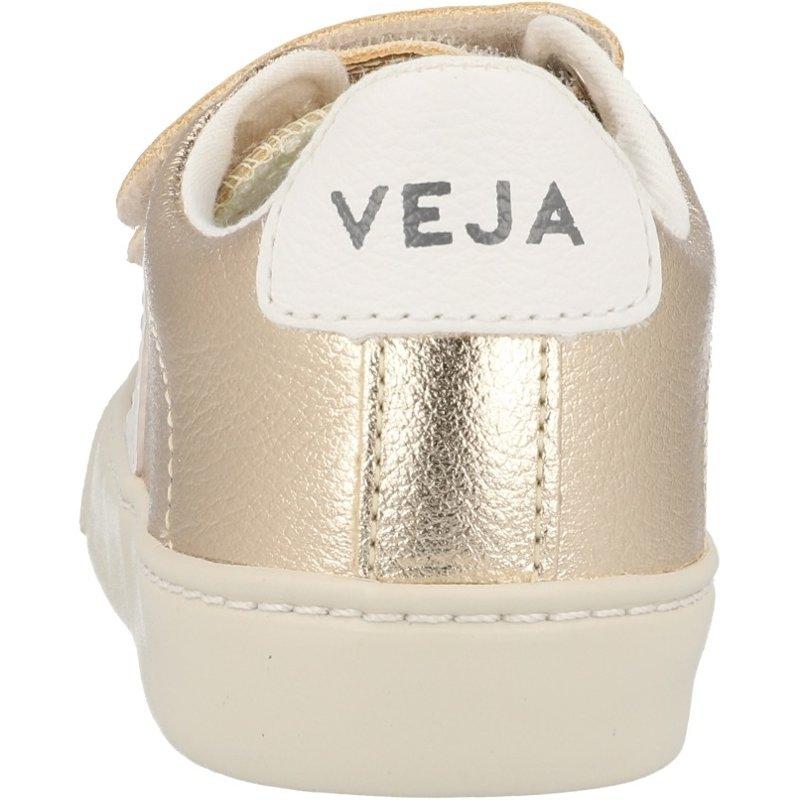 Veja Esplar Velcro Platine/White Chrome-free Leather