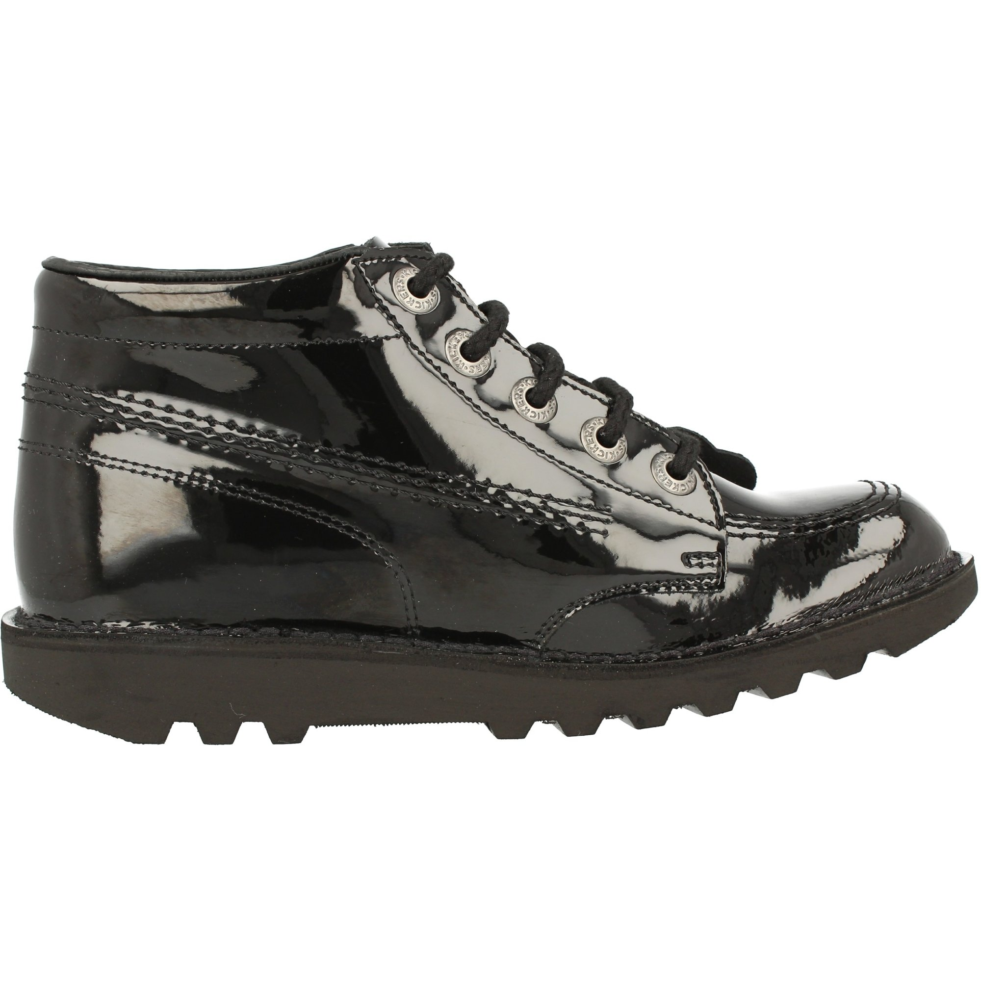 Kickers Kick Hi Y Black Patent